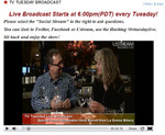 """TV Tuesday Live ""Broadcasting from Cellars of Sonoma at 6:00pm (PST)"